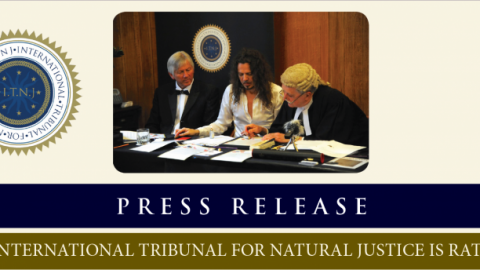 Press Release: The International Tribunal for Natural Justice is Ratified