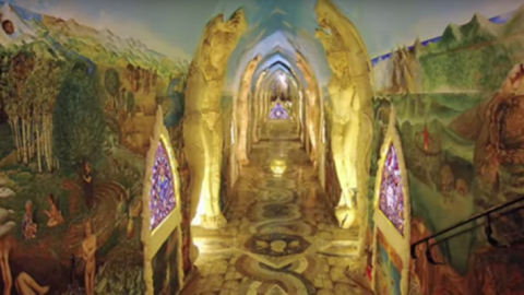 There's A Hidden Network Of Psychedelic Temples Under The Alps