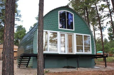 Prefab Arched Cabins Provide Cozy, Customizable Homes For Under $10K