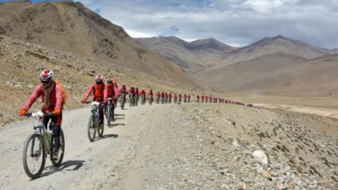Hundreds Of Kung Fu Buddhist Nuns Are Biking The Himalayas To Oppose Human Trafficking