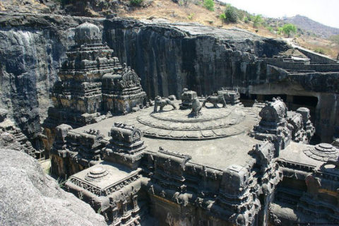 1200-Year-Old Ancient Hindu Temple Carved Entirely From a Single Rock