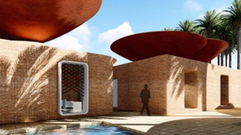 These Bowl-Shaped Roofs Collect Rainwater for Arid Areas