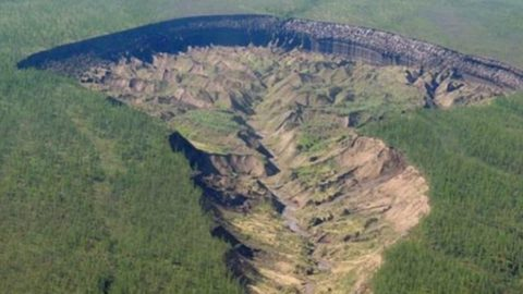 Siberia's Melting 'Doorway To The Underworld' Is Exposing Ancient Forests