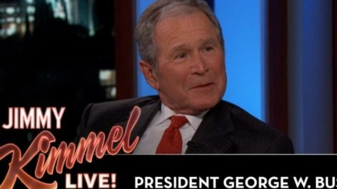 Watch George W. Bush Refuse To Tell Jimmy Kimmel About Ufos