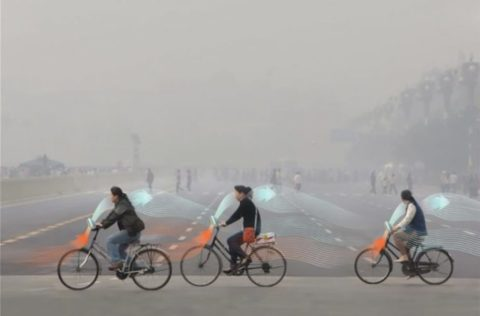 Daan Roosegaarde Introduces Smog-Sucking, Air-cleaning Bikes