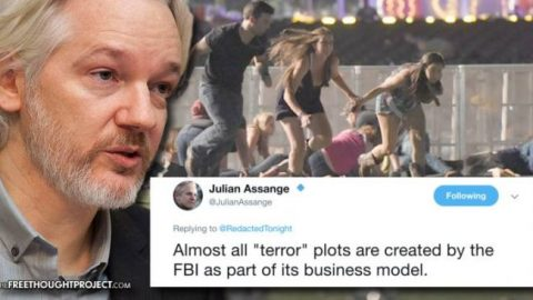 Assange Warns About Vegas Shooting: 'Almost All Terror Plots are Created by the FBI'