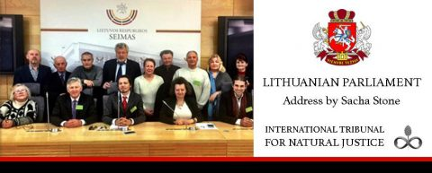 Sacha Stone's Juridical Address To The Lithuanian Parliament